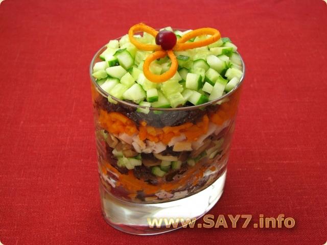 Рецепты салатов. На приготовление в среднем уходит 20 минут. Список