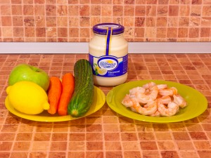 Салат-коктейль с креветками. Ингредиенты