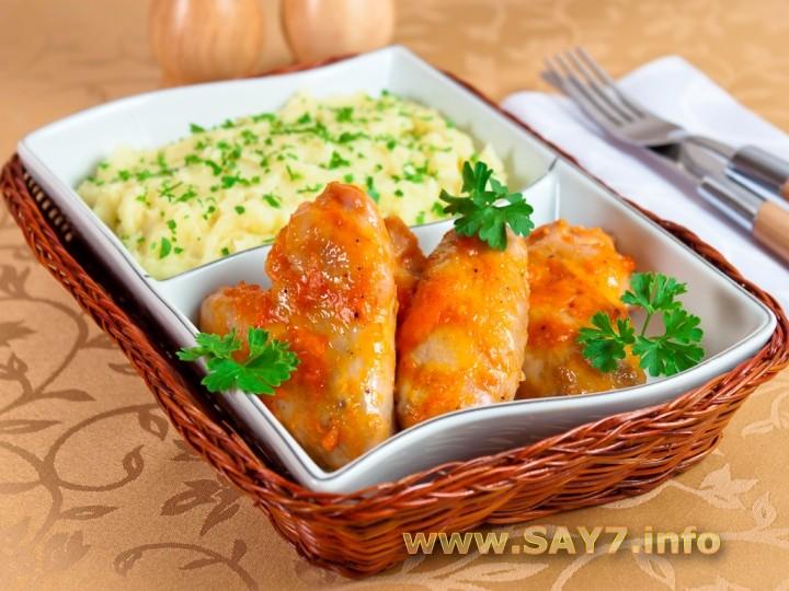 Рецепт Куриные крылышки, запеченные в розовом соусе