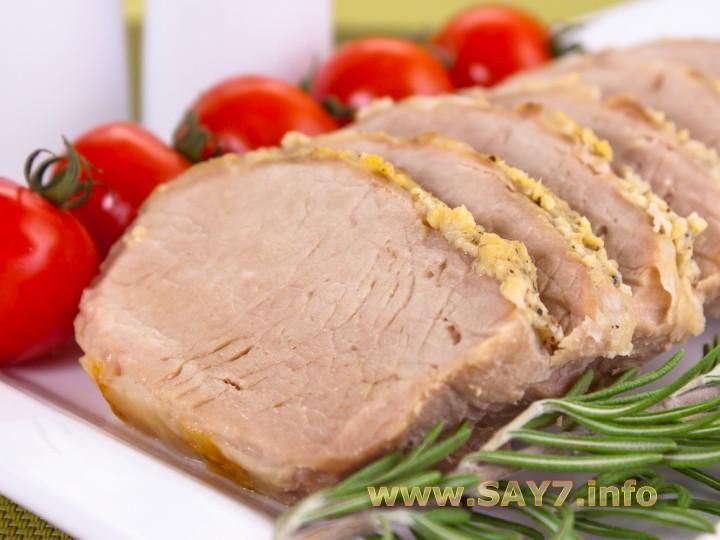 Рецепт Свинина, запеченная с чесноком