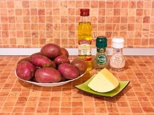 Картофель, запеченный с сыром. Ингредиенты