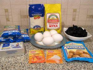 Творожный пирог с черникой. Ингредиенты