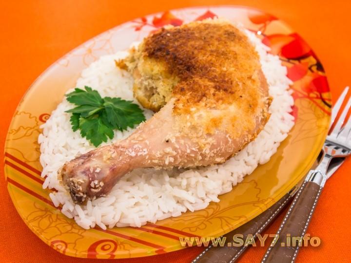 Рецепт Куриные окорочка, жаренные в кокосовой стружке