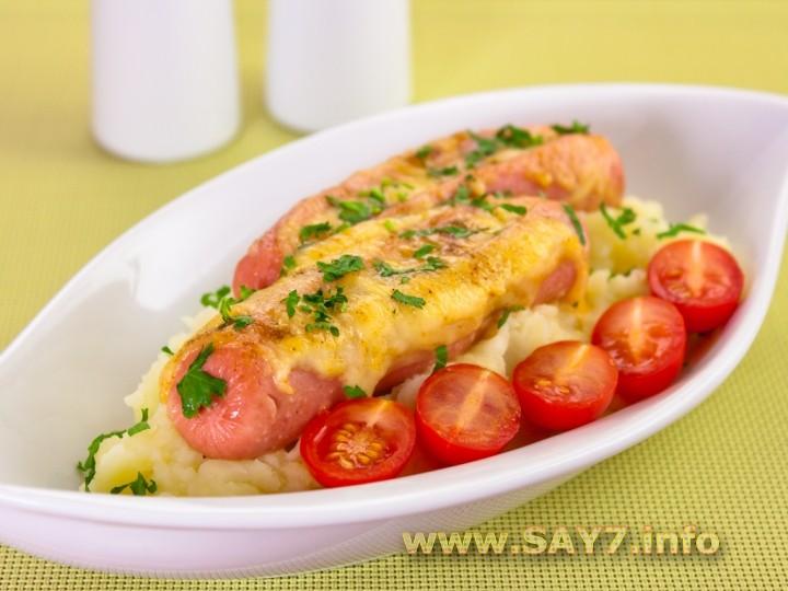 Рецепт Сосиски с сыром