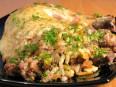 Курица, фаршированная печенью с рисом