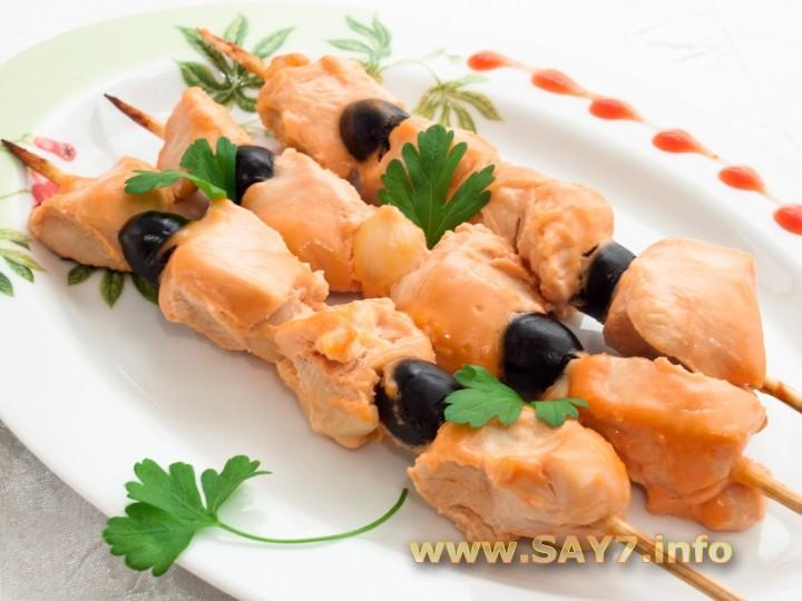 Рецепт Шашлычки «Домашние», маринованные в розовом соусе