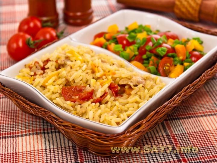 Рецепт Курица, тушенная с рисом и овощами