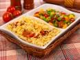урица, тушенна¤ с рисом и овощами