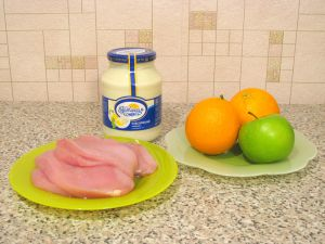 Салат с куриным филе и апельсинами. Ингредиенты