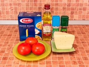 Макароны с сыром. Ингредиенты
