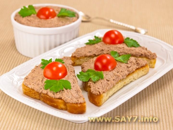 Рецепт Бутерброды с паштетом из куриной печени
