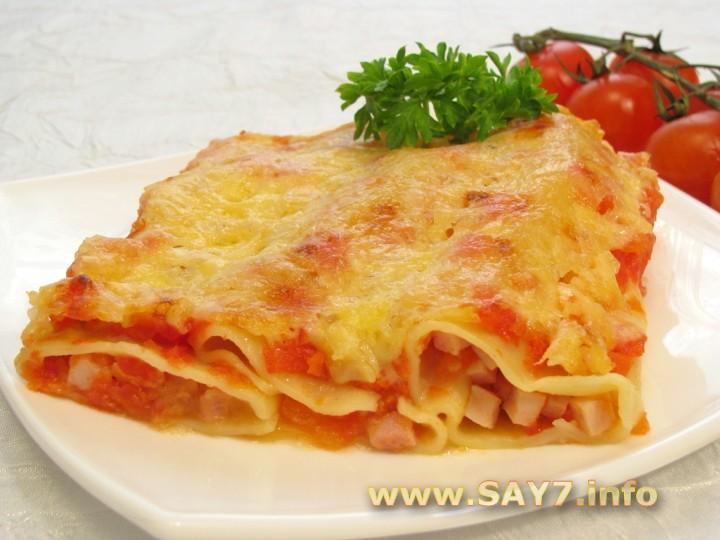 Рецепт Каннеллони с беконом под томатным соусом
