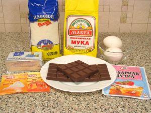 Шоколадное пирожное. Ингредиенты