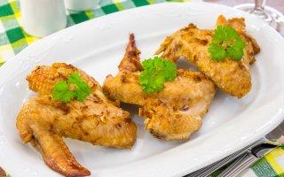 Куриные крылышки, запеченные с имбирем