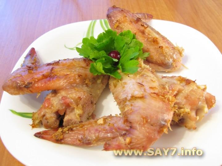 Рецепт Куриные крылышки, жаренные с имбирем