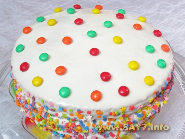 Фото рецепт праздничного торта для ребенка