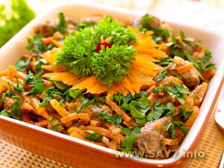 Салат с корейской морковью и печенью: https://www.say7.info/cook/recipe/218-Salat-koreyskoy.html