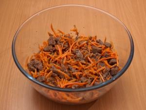 Хе с печенью и морковью
