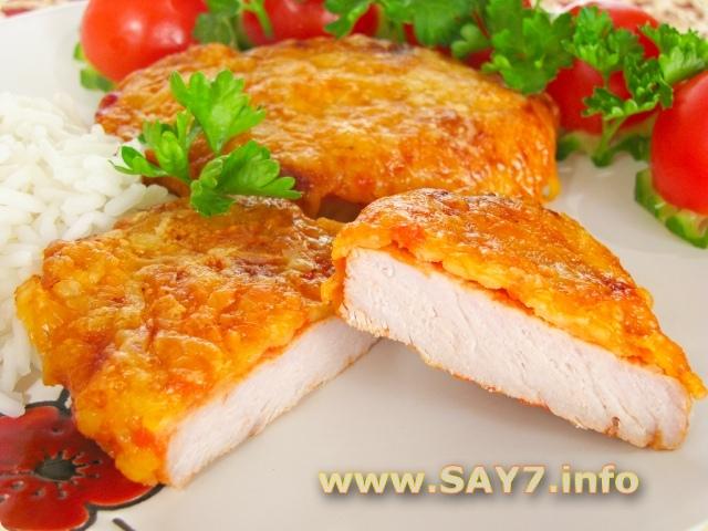 Свинина в сырной корочке