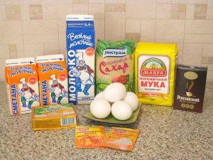 Торт Зебра. Ингредиенты