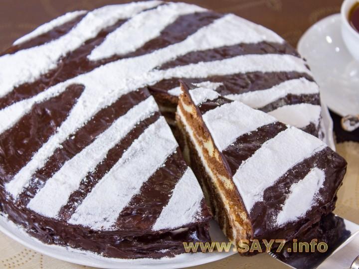 Торт зебра рецепт с пошаговым фото