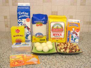 Печенье Каштаны. Ингредиенты
