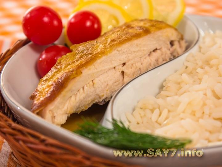 Рецепт Курица, запеченная с лимоном и горчицей