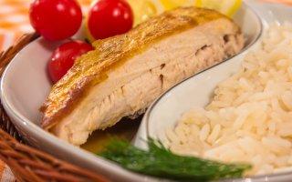 Курица, запеченная с лимоном и горчицей