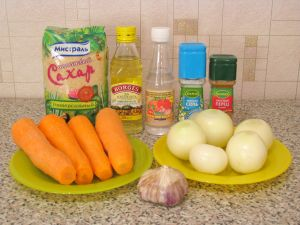 Морковь по-корейски. Ингредиенты