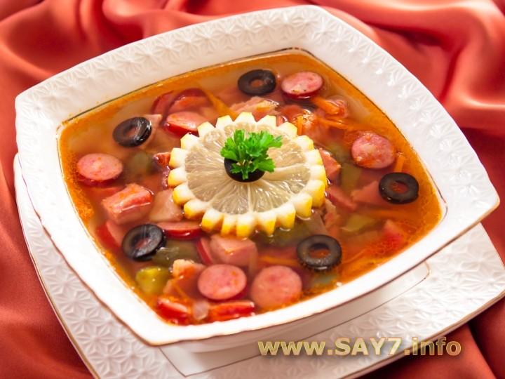 подробный рецепт приготовления колбасной солянки