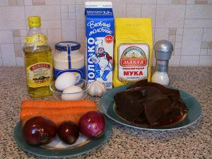 Торт из печени. Ингредиенты