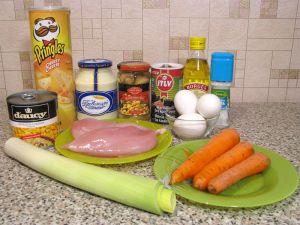 Салат Подсолнух. Ингредиенты
