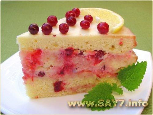 Торт Роман лимона с клюквой