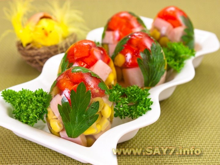 Рецепт Заливные яйца
