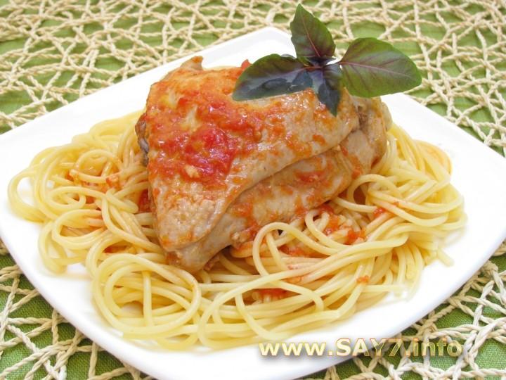 Рецепт Курица, тушенная с помидорами