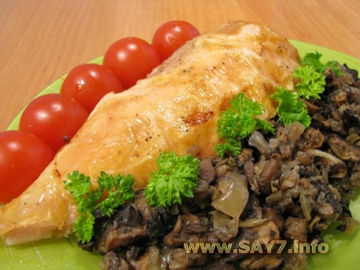Рецепт Курица, фаршированная грибами