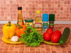 Салат овощной. Ингредиенты