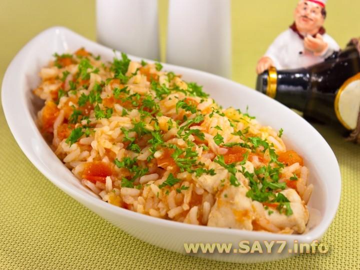 Рецепт Куриное филе с рисом и помидорами