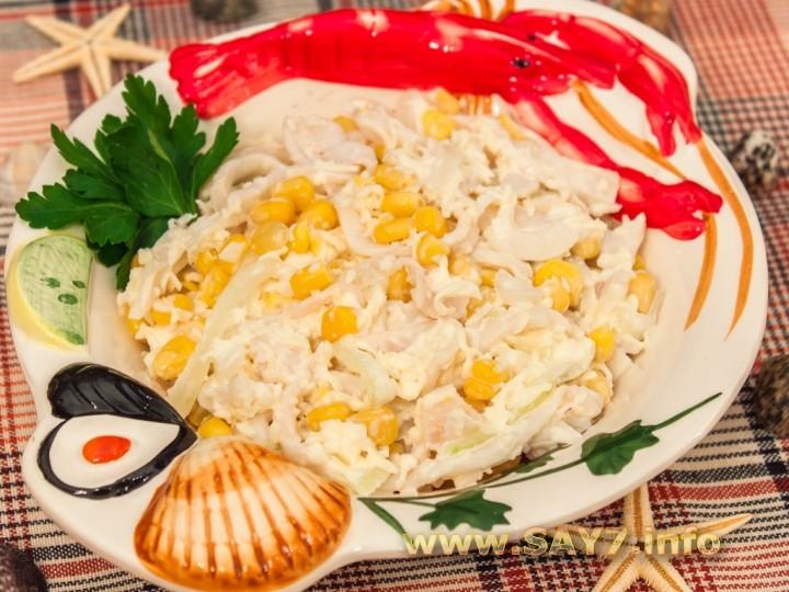 Салат с крабовыми палочками и черносливом рецепт