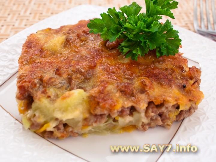 Рецепт Запеканка с кабачками и фаршем