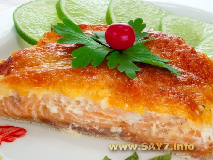 Рецепт Горбуша, запеченная с сыром