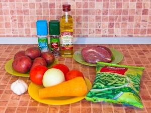 Суп с картофелем и стручковой фасолью. Ингредиенты