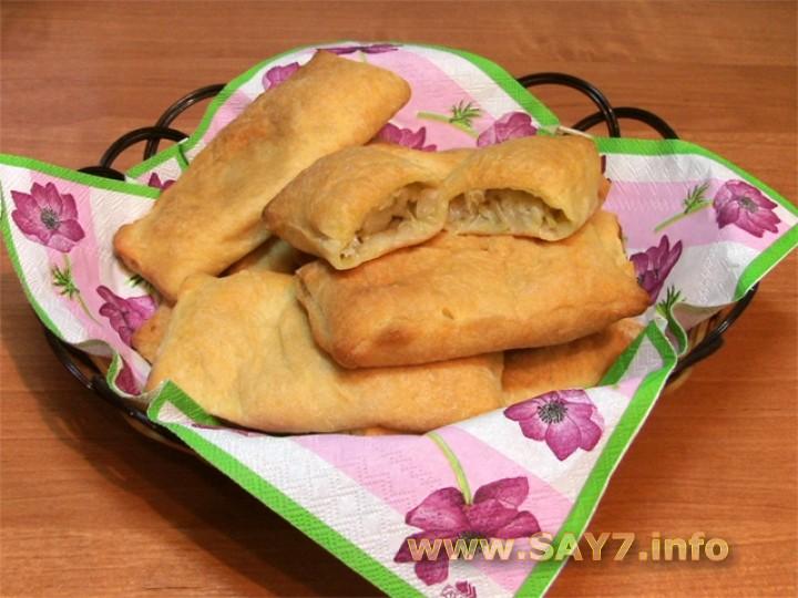 Рецепт Слоеные пирожки с капустой