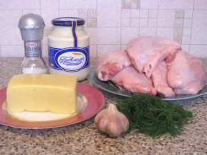 Куриные бедрышки, запеченные с сыром. Ингредиенты
