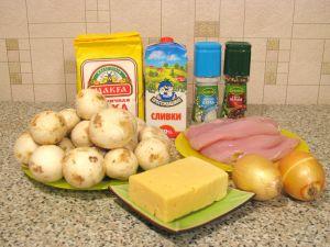 Жюльен с курицей и грибами. Ингредиенты