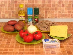 Запеканка с фаршем и картофелем. Ингредиенты