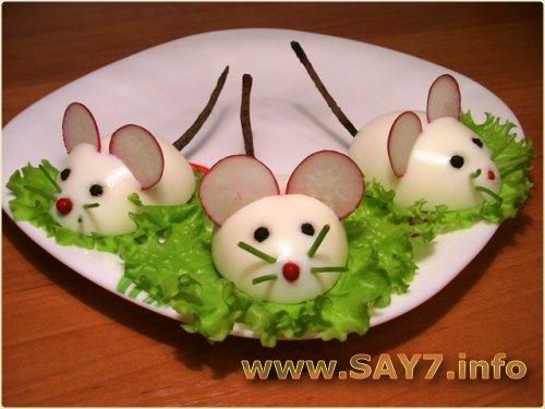 Фаршированные яйца Крысята
