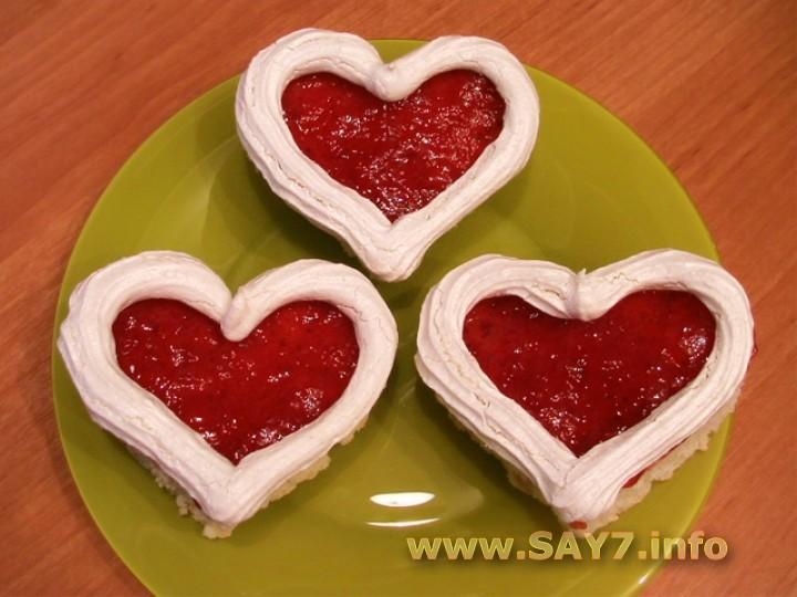 Рецепт Пирожное «Валентинки»