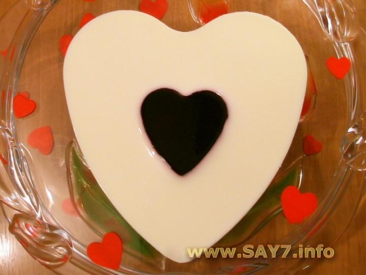 Рецепт Желе «День Святого Валентина»