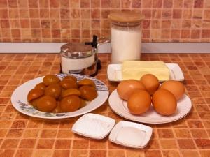 Пирог с абрикосами. Ингредиенты